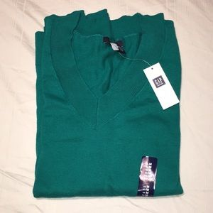 NWT Teal V-Neck Sweater